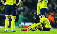 Blackburn Rovers' Bradley Dack reacts after his side lost the match<br /> <br /> Photographer Alex Dodd/CameraSport<br /> <br /> The EFL Sky Bet Championship - Leeds United v Blackburn Rovers - Wednesday 26th December 2018 - Elland Road - Leeds<br /> <br /> World Copyright &copy; 2018 CameraSport. All rights reserved. 43 Linden Ave. Countesthorpe. Leicester. England. LE8 5PG - Tel: +44 (0) 116 277 4147 - admin@camerasport.com - www.camerasport.com