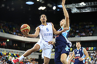 GB's Devan Bailey in action during the EuroBasket 2015 2nd Qualifying Round Great Britain v Bosnia & Herzegovina (Euro Basket 2nd Qualifying Round) at Copper Box Arena in London. - 13/08/2014