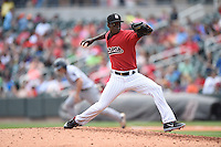 ***Temporary Unedited Reference File***Birmingham Barons relief pitcher Robinson Leyer (35) during a game against the Pensacola Blue Wahoos on May 2, 2016 at Regions Field in Birmingham, Alabama.  Pensacola defeated Birmingham 6-3.  (Mike Janes/Four Seam Images)