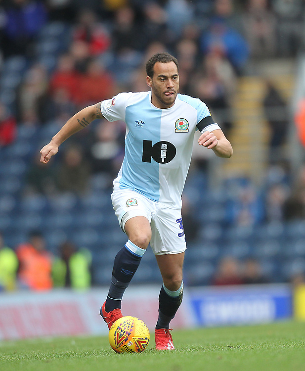 Blackburn Rovers Elliott Bennett<br /> <br /> Photographer Mick Walker/CameraSport<br /> <br /> The EFL Sky Bet Championship - Blackburn Rovers v Bristol City - Saturday 9th February 2019 - Ewood Park - Blackburn<br /> <br /> World Copyright © 2019 CameraSport. All rights reserved. 43 Linden Ave. Countesthorpe. Leicester. England. LE8 5PG - Tel: +44 (0) 116 277 4147 - admin@camerasport.com - www.camerasport.com