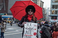 NEW YORK, NY - MARCH 8: A woman holds a banner during a rally to mark International Women's Day at Union Square on March 08, 2019.   (Photo by Maite H. Mateo/VIEWpress)