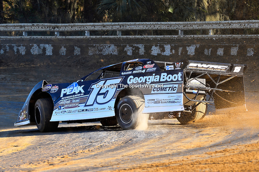 Feb 16, 2014; 4:49:04 PM; Ocala, FL., USA; The Third Annual Bubba Army Winter Nationals World Of Outlaws Super Late Models paying $12,000 to win at Bubba RaceWay Park.  Mandatory Credit: (thesportswire.net)