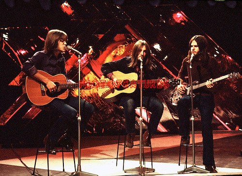 America 1973 Gerry Beckley, Dewey Bunnell and Dan Peek on Top Of The Pops.© Chris Walter.