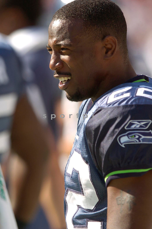 Jimmy Williams, of the Seattle Seahawks, during their game against the Washington Redskins on October 2, 2005...Redskins win 20-17...David Durochik / SportPics