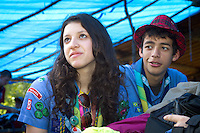 Brazil participants sharing feelings after the visit. Photo: Mikko Roininen / Scouterna