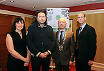 Pictured at the Killarney Chamber of Tourism &amp; Commerce usiness Meeting in the Killarney Avenue Hotel on Wednesday night were from left, Anne-Marie Kennelly, Darryl Downey, Killarney Music and Food Festival, Johnny McGuire, President and John Breen, Kerry County Council.<br /> Picture by Don MacMonagle