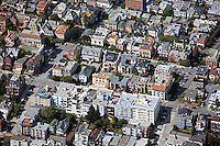 aerial photograph Pacific Heights residential neighborhood San Francisco California