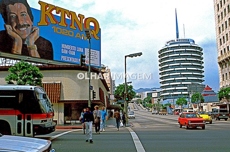 Edificio Capitol Records na cidade de Los Angeles. EUA. 1990. Foto de Juca Martins.