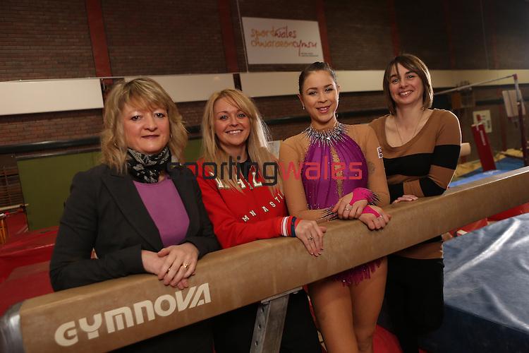 Welsh Gymnastics.Rhian Gibson, Nia Thomas, Frankie Jones and Jo Coombs..21.03.13.©Steve Pope