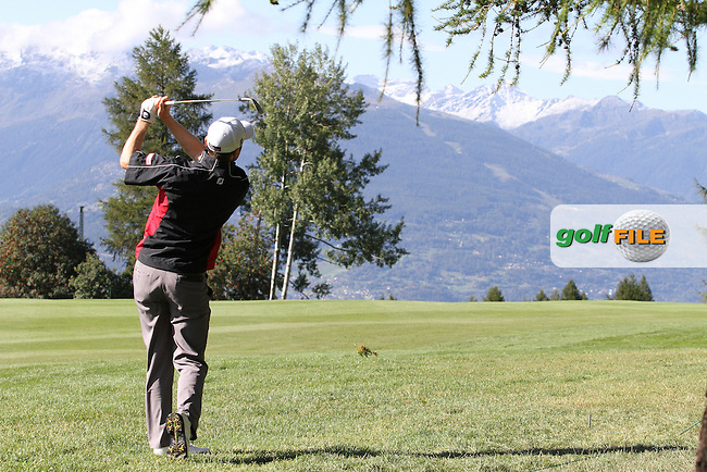 Michael Hoey (NIR) on Day 4 of the Omega European Masters 2012, Golf Club Crans-Sur-Sierre, Crans Montana, Switzerland, 01/09/12...(Photo Jenny Matthews/www.golffile.ie)