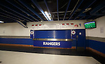 Parts of the Ibrox concourses seem like ghost towns as some food kiosks are not opening due to the low number of fans in attendance.