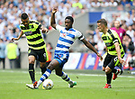 Huddersfield's Elias Kachunga tussles with Reading's Tyler Blackett during the Championship Play-Off Final match at Wembley Stadium, London. Picture date: May 29th, 2017. Pic credit should read: David Klein/Sportimage