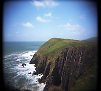 Waves crash into cliffs along the DIngle Peninsula in Ireland. (Photo by Pat Shannahan)