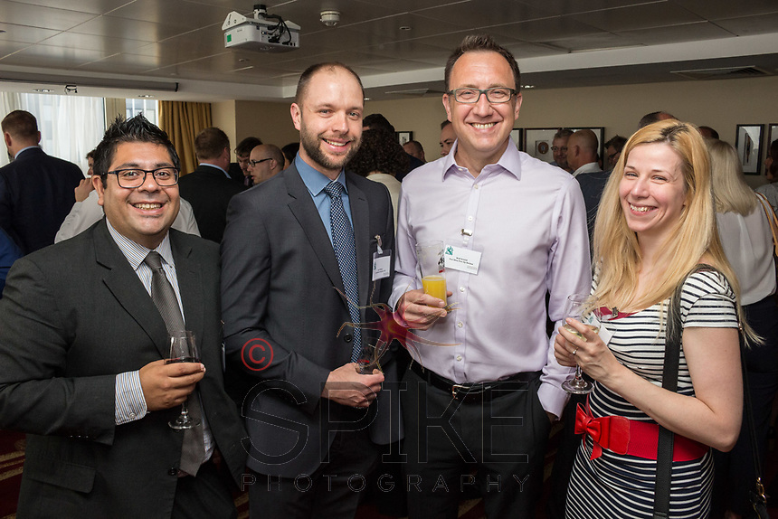Pictured from left are Rahul Kotecha of Shakepeare Martineau, Ian Whiley of Swindell & Pearson, Matt Arnold of Five Nine Five and Jenny Mitchell of Jen Creative