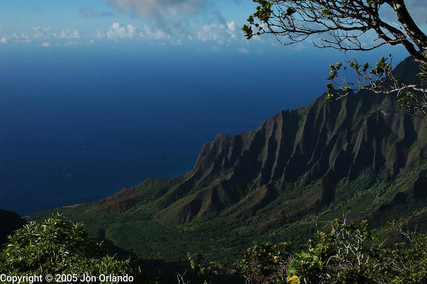Kalalau Valley on the island of Kauai, Hawaii.