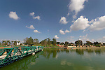 Israel, Sharon region. The lake at Park Ra'anana