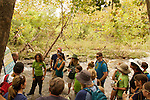 learning how species found in the creek can be a measure of water quality