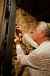 Israel, Masada, the inauguration of the Synagogue, installing the Mezuzah, 2005<br />