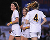 Hope Breslin #11 of Massapequa, left, reacts after scoring a goal in the second half of the Nassau County varsity girls soccer Class AA final against Calhoun at Cold Spring Harbor High School on Tuesday, Nov. 1, 2016. Massapequa won by a score of 5-1.