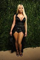 NEW YORK, NY - NOVEMBER 6: Nicki Minaj at the 14th Annual CFDA Vogue Fashion Fund Gala at Weylin in Brooklyn, New York City on November 6, 2017. Credit: John Palmer/MediaPunch