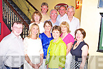 Noeleen Coomey, Ballinahassig, pictured with Oliver Buckley, Jo Clancey, Eileen Geaney, Brenda Duggan, Anne Dalton, Mary Scanlon, Barry Duggan, Tim Geaney, Sean Dalton and Michael Coomey as she celebrated her 50th birthday in Lord Kenmares, Killarney on Saturday night.