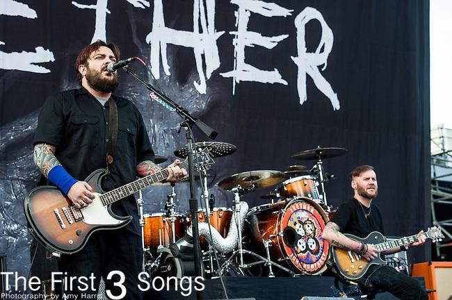 Shaun Morgan of Seether performs during the 2014 Rock On The Range festival at Columbus Crew Stadium in Columbus, Ohio.