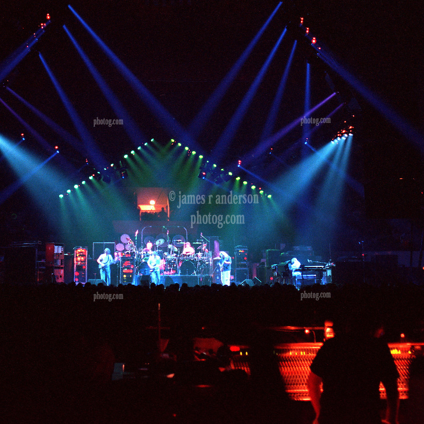 "The Grateful Dead Live at The Hampton Coliseum on 9 October 1989. One of the ""Formerly The Warlocks"" concerts. Sound Engineer Dan Healy at the board seen in right foreground. Limited Edition Photographic Prints available for purchase in Cart."