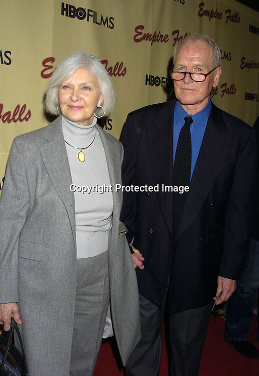 """Paul Newman and Joanne Woodward ..at a screening of HBO Films """"Empire Falls"""" at the Metropolitan Museum of Art on May 9, 2005..Photo by Robin Platzer, Twin Images"""