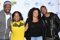 NEW YORK CITY, NY, USA - SEPTEMBER 23: Michael Che, Sherri Shephard, Michelle Bateau, Marlon Wayans arrive at the NYTough Comedy Showcase held at Caroline's On Broadway on September 23, 2014 in New York City, New York, United States. (Photo by Jeffery Duran/Celebrity Monitor)