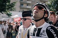 stage winner Michael Matthews (AUS/Sunweb) can't believe it... looking up for answers?<br /> <br /> 104th Tour de France 2017<br /> Stage 14 - Blagnac › Rodez (181km)
