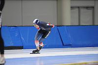 SCHAATSEN: SALT LAKE CITY: Utah Olympic Oval, 12-11-2013, Essent ISU World Cup, training, Alexis Contin (FRA), ©foto Martin de Jong