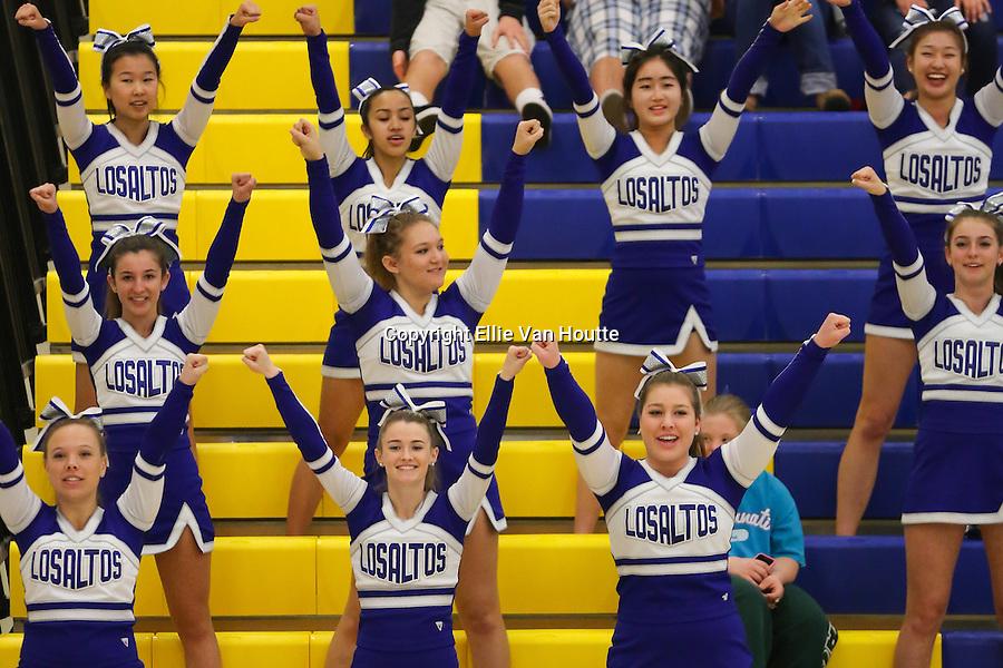 Los Altos High School Cheerleaders at the CCS Quarterfinals Game<br /> Feb. 23, 2013<br /> LAHV v. Westmoor<br /> Final Score: 75-66