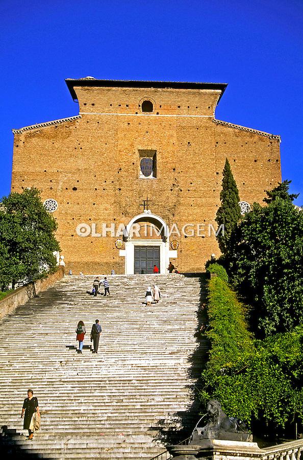 Igreja Aracoeli em Roma. Itália. 2000. Foto de Vinicius Romanini.