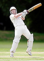 James Warburton bats for Highgate during the Middlesex County League Division Two game between Hornsey and Highgate at Tivoli Road, Crouch End on Saturday Aug 13, 2011