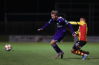 20191125 - WOLVERTEM: Anderlecht's Michel Vlap and Mechelen's Aster Vranckx battle for the ball during the Belgian Elite U21 league football match between RSC Anderlecht U21 and KV Mechelen U21 on Monday 25th of November 2019 at F. Lathouwersstadion, Wolvertem Belgium. PHOTO: SEVIL OKTEM|SPORTPIX.BE