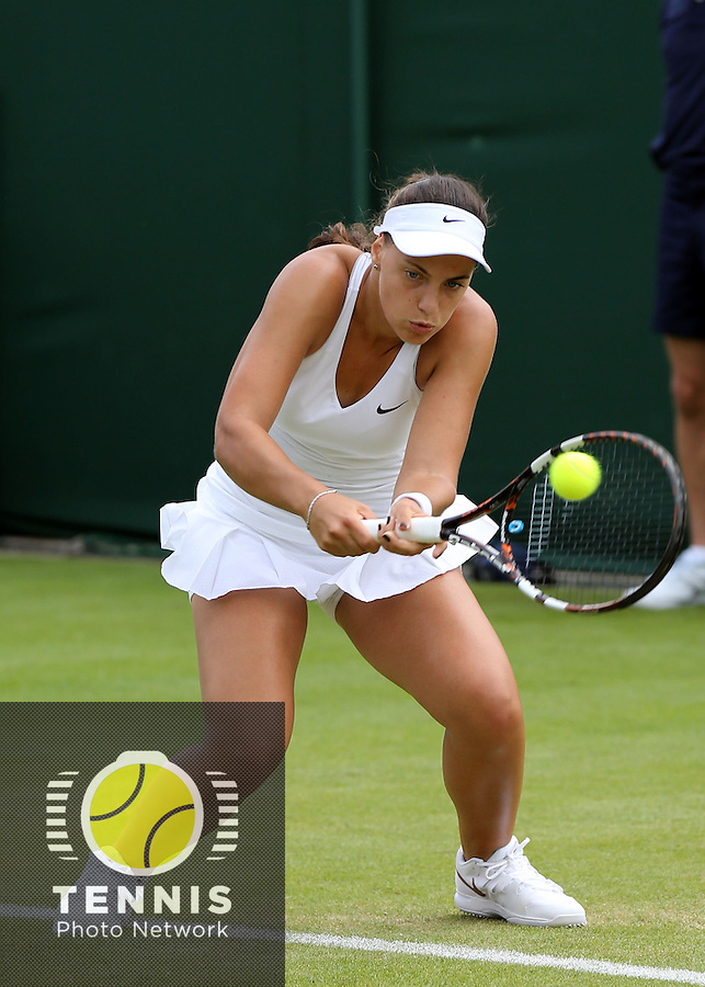 ANA KONJUH (CRO)<br /> <br /> The Championships Wimbledon 2014 - The All England Lawn Tennis Club -  London - UK -  ATP - ITF - WTA-2014  - Grand Slam - Great Britain -  23rd June 2014. <br /> <br /> © J.Hasenkopf / Tennis Photo Network