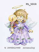 Interlitho, Theresa, CHRISTMAS CHILDREN, paintings, angel, candle, KL5918,#xk# stickers stickers