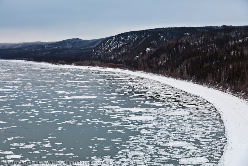 Pancake ice in the Yukon River, Interior, Alaska.