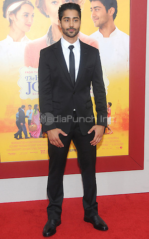 New York, NY- August 4: Manish Dayal attend the world premiere of Dreamworks pictures' 'The Hundred-Foot Journey' on August 4, 2014 at the Ziegfeld Theater in New York City. Credit: John Palmer/MediaPunch