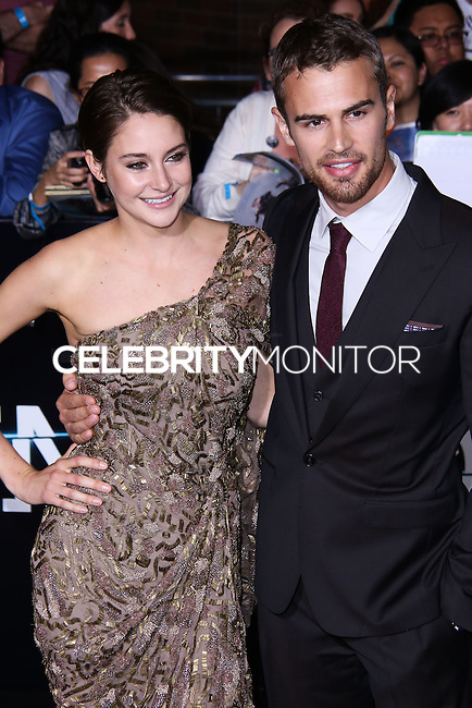 """WESTWOOD, LOS ANGELES, CA, USA - MARCH 18: Shailene Woodley, Theo James at the World Premiere Of Summit Entertainment's """"Divergent"""" held at the Regency Bruin Theatre on March 18, 2014 in Westwood, Los Angeles, California, United States. (Photo by David Acosta/Celebrity Monitor)"""