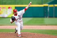 Ryan Kulik (28) of the Springfield Cardinals delivers a pitch during a game against the Midland RockHounds on April 19, 2011 at Hammons Field in Springfield, Missouri.  Photo By David Welker/Four Seam Images