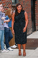 NEW YORK, NY - JUNE 6: Mindy Kaling  at The Late Show With Stephen Colbert on June 6, 2019 in New York City.    <br /> CAP/MPI99<br /> ©MPI99/Capital Pictures