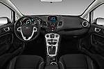 Stock photo of straight dashboard view of 2017 Ford Fiesta SE 5 Door Hatchback Dashboard