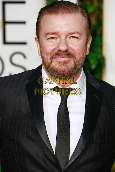 BEVERLY HILLS, CA - January 11: Ricky Gervais at Golden Globes 2015 held at Beverly Hilton in Beverly Hills, California on January 11, 2015.  <br /> CAP/MPI/mpi500<br /> &copy;mpi500/MPI/Capital Pictures