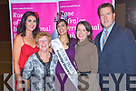 Sponsors Thank you evening for Kerry Festival Support Group Back to basics at the Grand Hotel, Tralee on Thursday evening from left Ann Kahraman, Tess Leen, Rose of Tralee Clare Kambamettu, Valerie Kerins amd JJ Bonn.