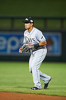 Peoria Javelinas Kean Wong (1), of the Tampa Bay Rays organization, during a game against the Salt River Rafters on October 11, 2016 at Salt River Fields at Talking Stick in Scottsdale, Arizona.  The game ended in a 7-7 tie after eleven innings.  (Mike Janes/Four Seam Images)