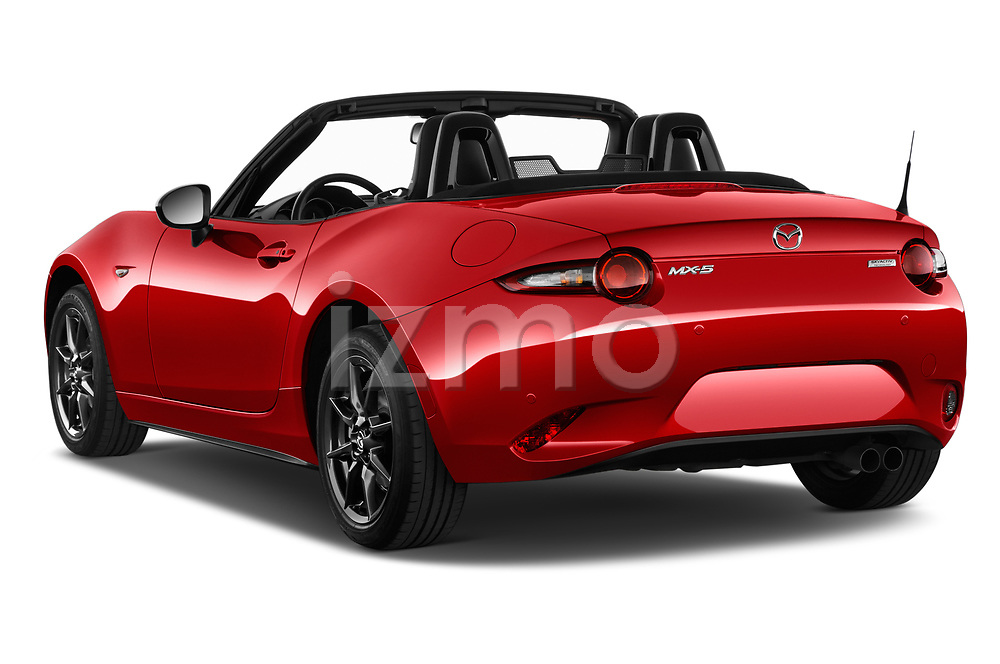 Car pictures of rear three quarter view of 2016 Mazda MX-5 Skycruise 2 Door Convertible Angular Rear