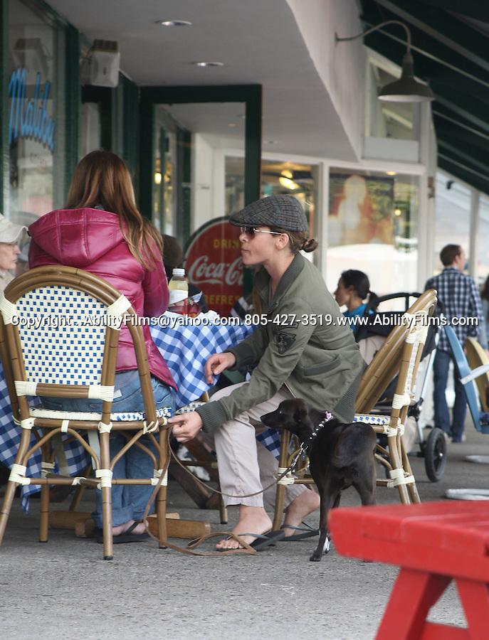 ..AbilityFilms@yahoo.com.805-427-3519.www.AbilityFilms.com....Feb 20th 2012   ...Brooke Burns walking her dog in Malibu California wearing a green army jacket & hat
