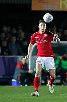 Jason Pearce of Charlton Athletic during the Sky Bet League 1 match between AFC Wimbledon and Charlton Athletic at the Cherry Red Records Stadium, Kingston, England on 10 April 2018. Photo by Carlton Myrie / PRiME Media Images.