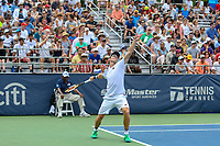 Washington, DC - August 3, 2019:  John Peers (jp2) serves the ball during the  Men Doubles semi finals at William H.G. FitzGerald Tennis Center in Washington, DC  August 3, 2019.  (Photo by Elliott Brown/Media Images International)